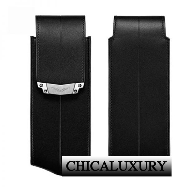 black-leather-vertical-case-with-stainless-steel