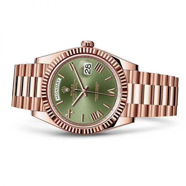 dong-ho-rolex-day-date-40mm-228235-olive-green-dial-everose-gold